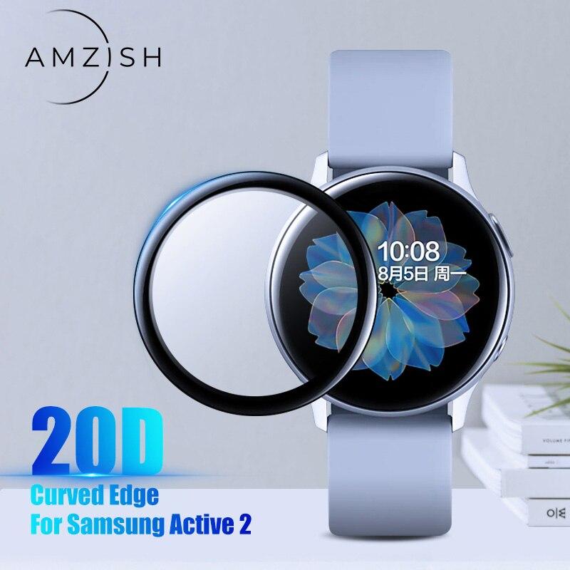amzish 20D изогнутыми краями Защитное стекло для Samsung galaxy Watch Active 2 40mm 44mm защитное закаленное стекло|Смарт-аксессуары|   | АлиЭкспресс