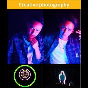 Image 5 - الترا برايت ديامابل RGB LED الفيديو الضوئي ملء ضوء 3200 K 5600 K DSLR التصوير الإضاءة مع ترايبود صغير الهاتف جبل عدة
