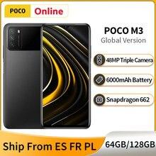 Versão global poco m3 4gb 128gb/64gb smartphone snapdragon 662 6.53