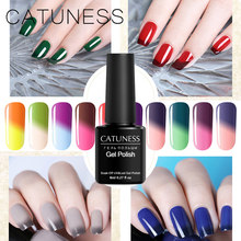 Catuness Gradien Suhu Perubahan Warna 8 Ml Rendam Off Gel Kuku Lak Tahan Lama UV LED Thermo Gel Hybrid Pernis kuku(China)
