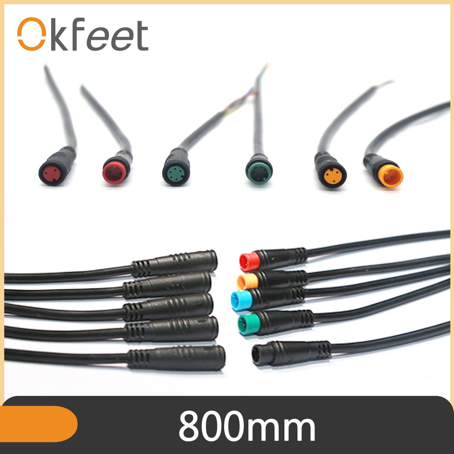 Julet Mini Connector 2//3//4//5//6Pins Cable Water-proof Connector For Ebike Display
