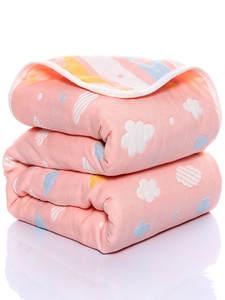 Blanket Quilt Baby Cotton 110--110cm Bath-Towel Gauze Six-Layer Thin Newborn Infant Wholesale