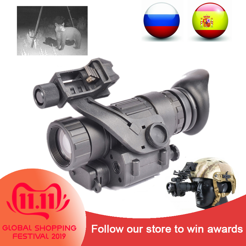 PVS-14 Mountable NV Scope 200M Range IR Night Vision Monocular Head Mount Tactical Night Vision Monocular For Night Hunter
