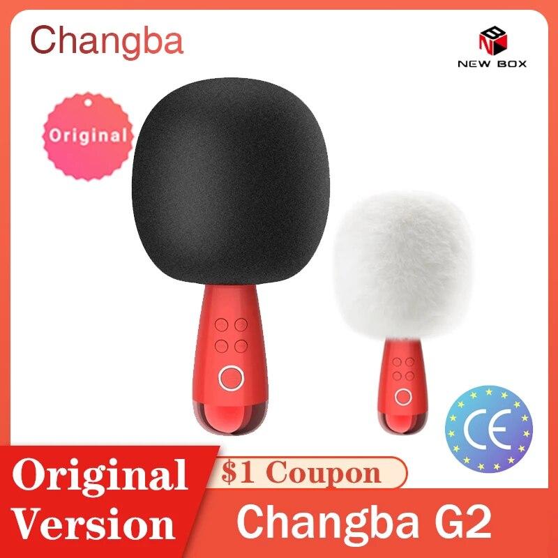 Новый G2 G1 Q3 большой яйцо Changba микрофон беспроводной профессиональный микрофон Bluetooth караоке микро-телефон поет для YouTube Live micrófono