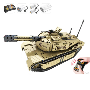 9801 1276pcs military remote control rc m1a2 main battle tank 50m distance can rotate launch building block Toy 1 32 rc war tank tactical vehicle main battle military remote control tank with shoot bullets model electronic hobby boy toys