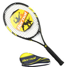 Tennis Racket Carbon Fiber High Quality Aluminum Alloy Frame Ultra Light Tennis Raquete De Unisex Training With Tennis Bat Bag(China)