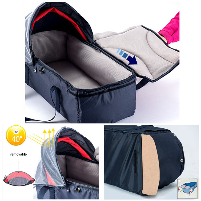 Baby crib Baby basket Portable Dual purpose baby Baby accessories With cover Mosquito net Baby bed Travel bed Lightweight