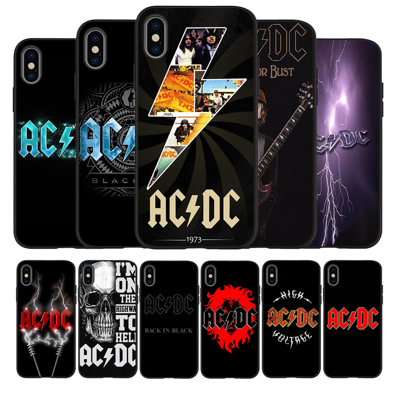 AC DC poster music Black TPU Silicone Soft Phone Case For iPhone 11 Pro Max X XS MAX 5 6 7 8 Plus