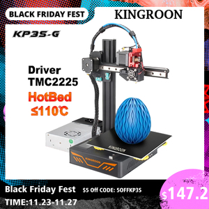 KINGROON KP3S-G DIY Upgraded 3D Printer High Precision Printing 3d print 180*180*180mm Dual Guide Rails 3D принтер impressora 3d