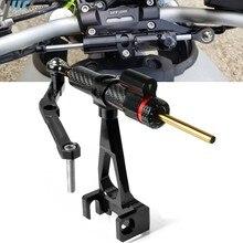 Motocicleta de fibra de carbono direção estabilizar amortecedor suporte de montagem kit para yamaha MT-09 mt09 fz09 FZ-09 2013-2016 2017 2018 2019