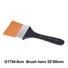 No. 8 Paint Brush Long Flat Head Cleaning Brush Gouache Acrylic Painting Brush Oil Brush Painting Wall Art Supplies 9 pieces long handle oblique flat art paint brush value set for oils acrylic gouache
