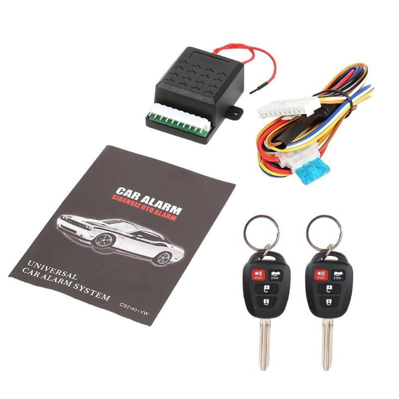 자동차 원격 중앙 도어 잠금 잠금 알람 열쇠가없는 항목 시스템 401/t401