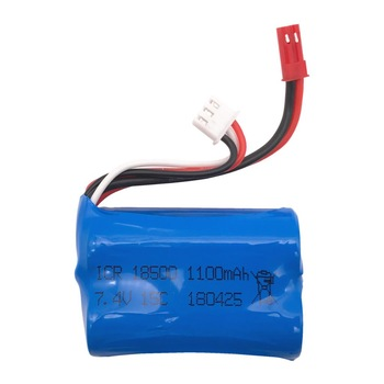 7.4V 1100mAH 15C Lipo Batttery For MJX T10 T11 T34 HQ 827 871 Rc drone battery 7.4 V 1100 mAH 18500 toy battery image