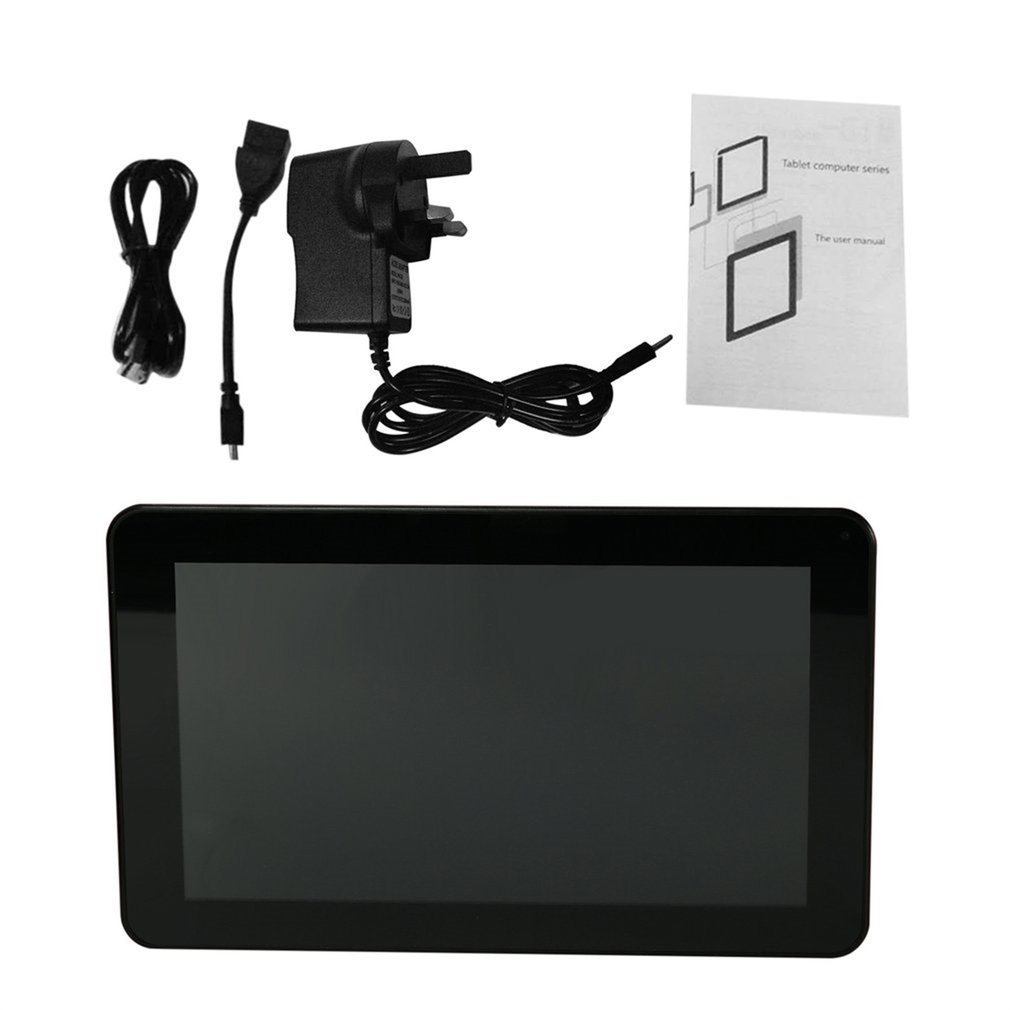 Portable 9-Inch Capacitive Touch Screen UK Plug WIFI Tablet Allwinner A33 512MB+8G 800x480 Pad Front Rear 0.3MP Camera Tablet