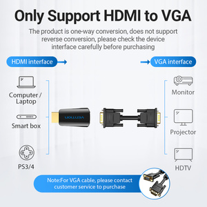 Image 2 - Vention HDMI to VGA Adapter HDMI Male to VGA Felame HD 1080P Audio Cable Converter With 3.5 Jack for PS4 Laptop PC Box Projector