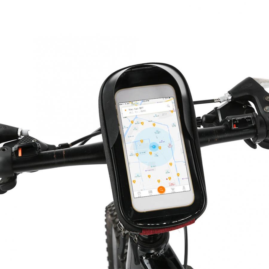 Bicycle Front Handlebar Bag Bike Waterproof Phone Holder Pack for Cell Phone GPS