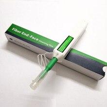 משלוח חינם 5 יח\חבילה 2.5mm אחד לחץ סוף פנים סיבים אופטי ניקוי עט עבור אופטיקה SC FC ST במלאי