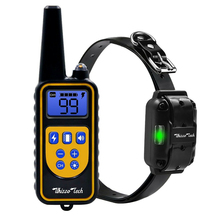 800m Electric Dog Training Collar Pet Remote Control with LCD Display Waterproof Rechargeable collars for Shock Vibration Sound rechargeable pet remote control electric dog training collar with lcd display anti barking waterproof collars