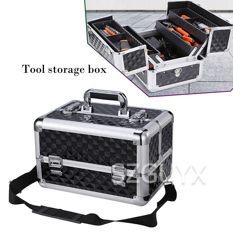 Three-layer Large-capacity Hardware Tool Box Household Portable Toolbox Multifunctional Electrician Maintenance Storage Box