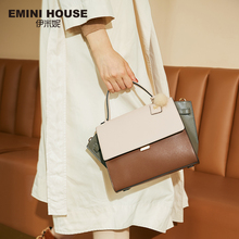 EMINI HOUSE Trapeze Handbag Split Leather Luxury Handbags Women Bags