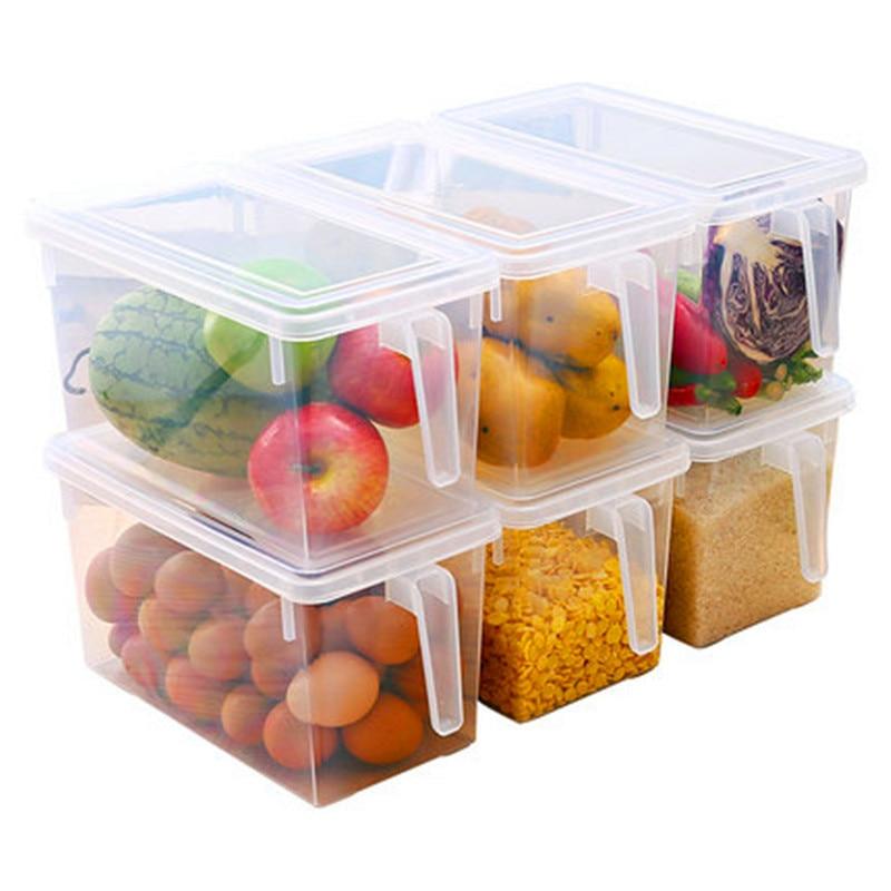Transparent Pp Storage Box,Refrigerator Storage,organizer Food Container,beans Storage,contain Sealed