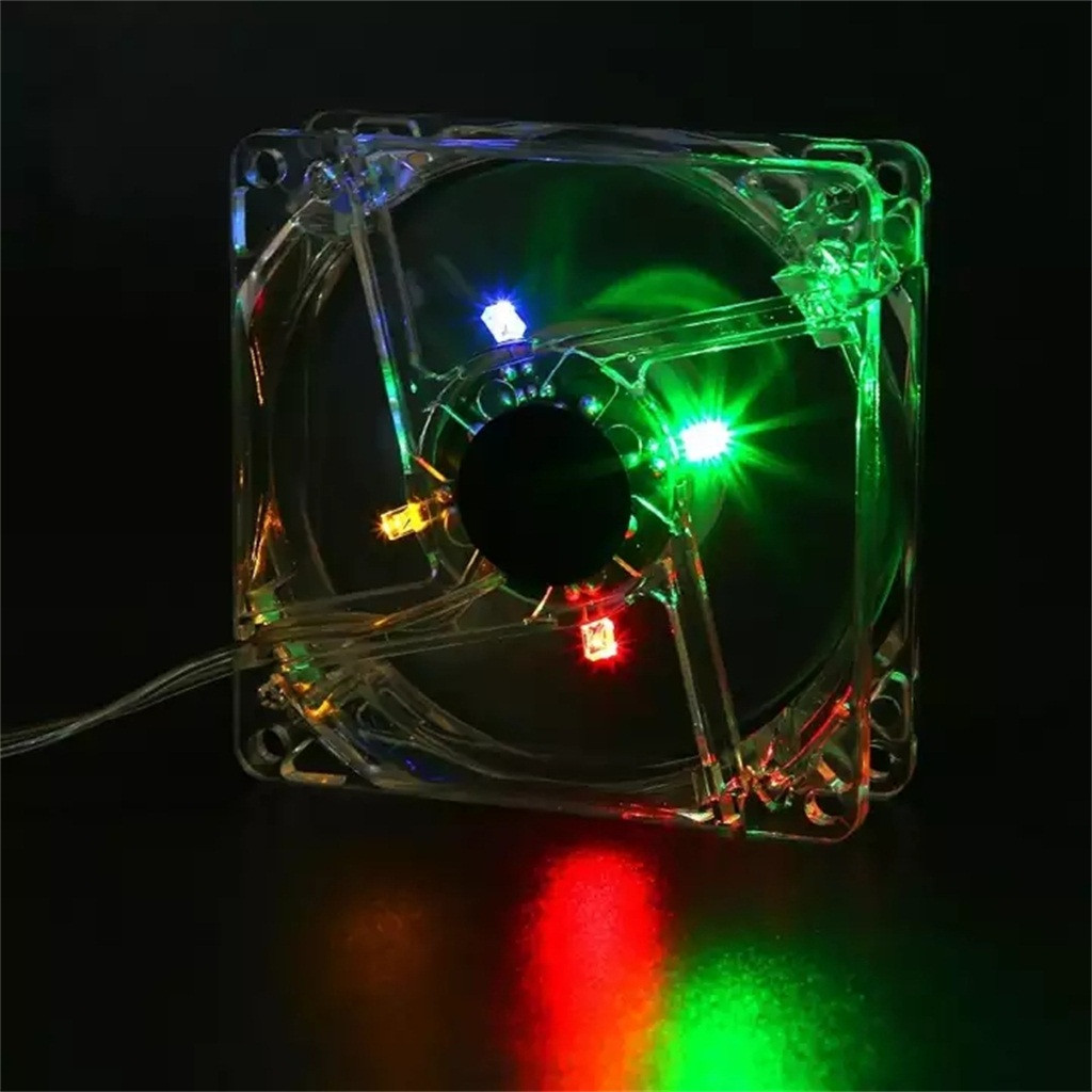 8cm <font><b>USB</b></font> Colorful Light Transparent Cooling <font><b>Fan</b></font> <font><b>5V</b></font> CPU Cooling <font><b>Fan</b></font> For PC Compute image