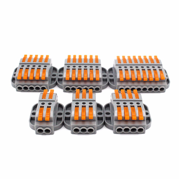Wire Connectors 222-413 415 Docking Cable Conectors Fast Universal Wiring Compact Conductors Push-in Terminal Block LED SPL-2 3 wire connectors 222 412 413 415 mini fast wire cable conectors universal compact wiring conductor push in terminal block china