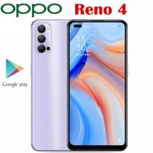 Yeni orijinal resmi Oppo Reno 4 5G Smartphone Snapdragon 765G Octa çekirdek 6.4 ''2400 × 1080P AMOLED 4000Mah 65W SupperVOOC2.0 48MP