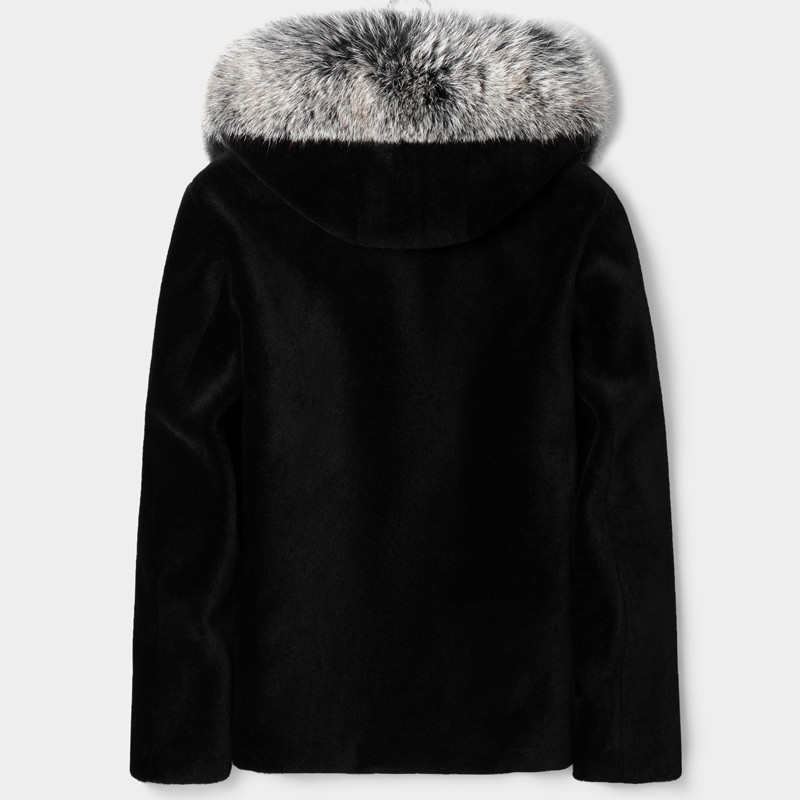 Real Sheep Shearling Fur Coat Winter Jacket Men Real Fox Fur Collar Warm Outwear Mens 100% Wool Coats Chaqueta LSY088035 MY1607