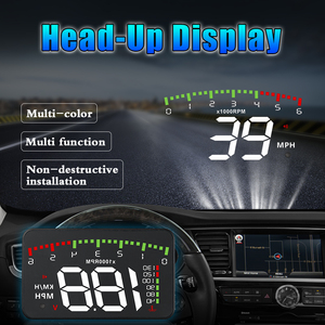 Image 3 - OBDHUD A300 OBDII Head Up Display 9 V 16 V MPH KM/H Kraftstoff Geschwindigkeit Warnung System Windschutzscheibe projektor Auto Accesorie Freies Verschiffen