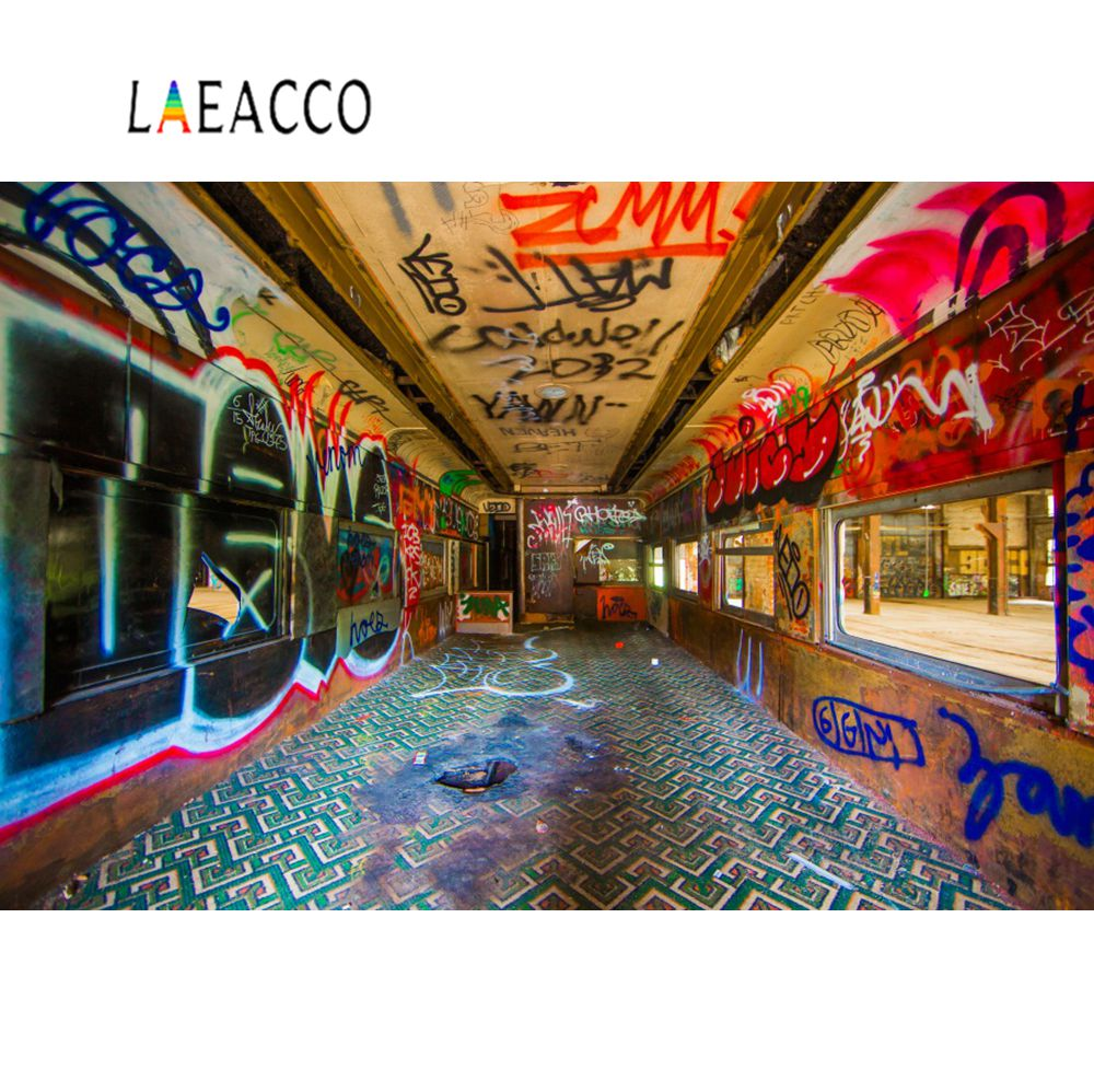 Laeacco Grunge Graffiti Passway Interior Scenic Photographic Backgrounds Customized Photography Backdrops For Photo Studio