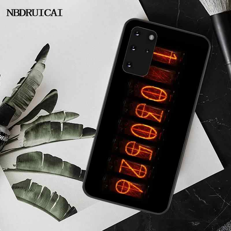 NBDRUICAI Steins Gate Cover Black Soft Shell Phone Case for Samsung S20 plus Ultra S6 S7 edge S8 S9 plus S10 5G