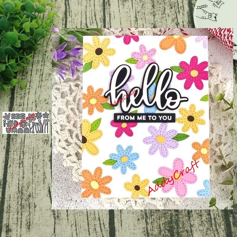 Metal Cutting Dies Colorful Flowers Cut Die Mold Decoration Scrapbook Paper Craft Knife Mould Blade Punch Stencils Die