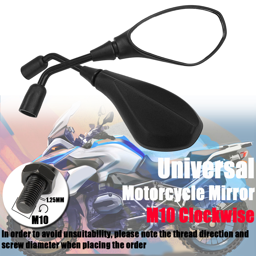 Motorcycle Rearview side Mirror For BMW R1250GS R1200GS R 1200 GS For Kawasaki Z650 Z750 E-Bicycle Clockwise Convex Accessories