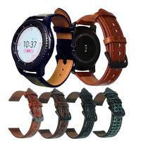 Correa de cuero genuino para Xiaomi Mi Watch, correa de recambio para relojes inteligentes de 22mm, para Huami Amazfit GTR 2 GTR2