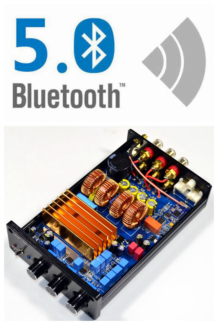 2019 prix spécial AMP 150W + 150W + 300W TPA3255 haute puissance classe D Hifi numérique 2.1 amplificateur Bluetooth 4.2/5.0 amplificateur de puissance