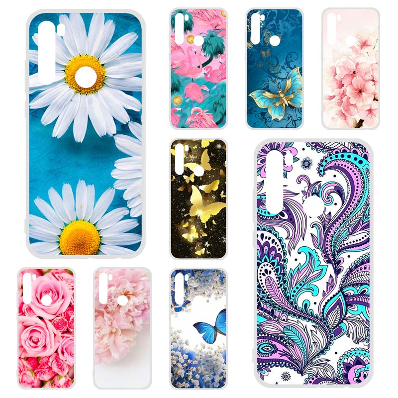Phone Case For Xiaomi Redmi Note 8T Case Silicon Floral Painted Protective Bumper Coque Xiaomi Redmi Note8T Case Covers Fundas