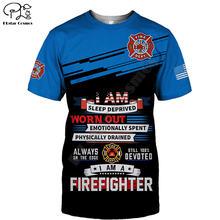 Frefighter t shirt summer printed men for women shirts tops