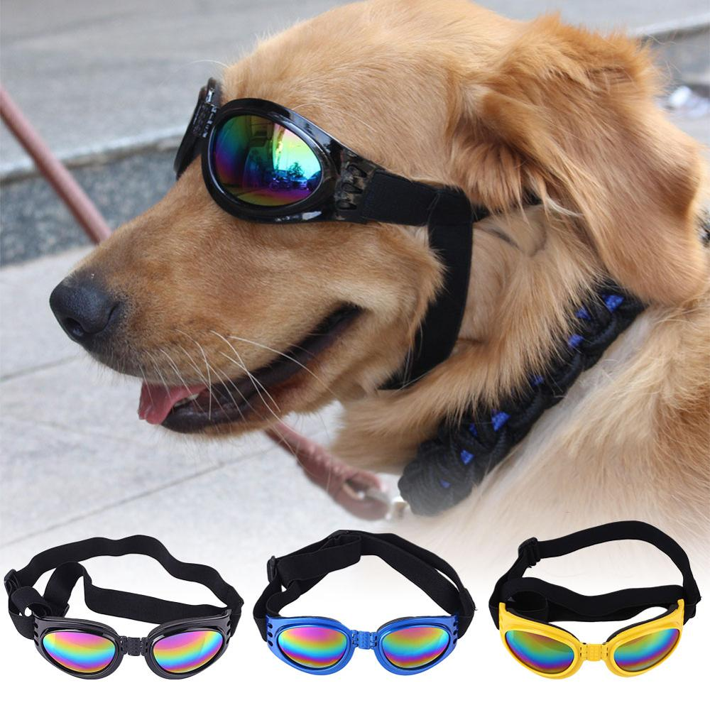5 Colors Foldable Pet Dog Glasses Medium Large Dog Pet Glasses Pet Eyewear Waterproof Dog Protection Goggles UV Sunglasses