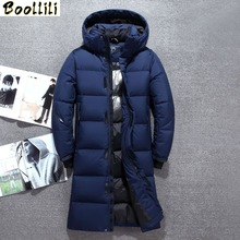 Winter Men #8217 s Thicken X-Long White Duck Down Jacket 2020 New Fashion Hooded Over The Knee Warm Parka Coat Male Brand Clothing cheap Wide-waisted 61916 Casual zipper Full PATTERN Pockets 3D Print Wave Cut Epaulet Zippers Thick (Winter) Broadcloth Acetate