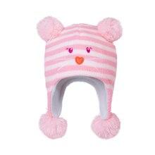Шапка ушанка для девочек зимняя шапка Детская вязаная флисовая