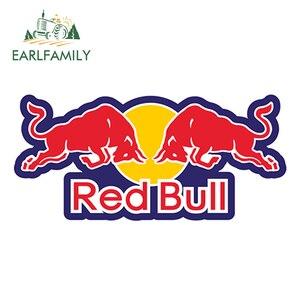 EARLFAMILY 13cm x 6cm Car Stickers Red of Bull Vinyl Decal Truck Window Sticker Bumper Laptop Yeti Racing Wall Helmet Decor(China)