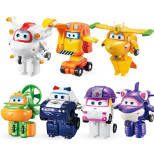 2018 Newest Mini Super Wings Deformation Mini Airplane ABS Robot toy Action Figures Super Wing ZOEY/SCOOP Transformation toys