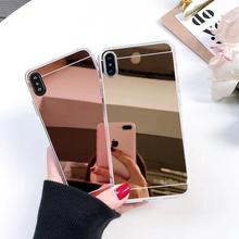 цена на Luxury Mirror TPU Case For iPhone 11 X XS Max XR 7 8 6S Plus Phone Case For iPhone 11 Pro MAX SE2020 Silicon Cover Soft TPU Case