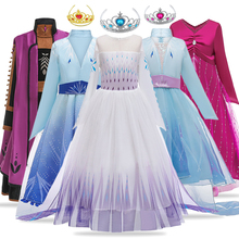 Anna 2 Elsa Dress Unicorn Kids Dresses For Girls Children Infant Girl Fantasy Carnival Costume Snow