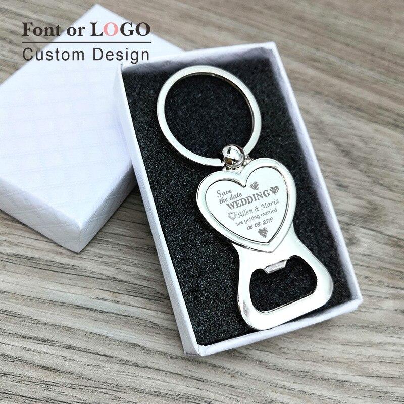 Ouvre-bouteille en forme de cœur 100 pièces | Porte-clés personnalisé pour cadeau de mariage, porte-clés Photo personnalisé, ouvre-bouteille de bière