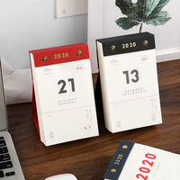 2020 Cute one year Calendars Mini Desk Calendar Office Work Learning Schedule Periodic Planner Stationery