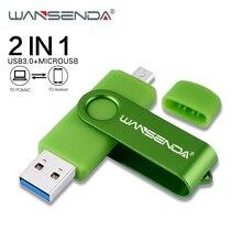 WANSENDA USB Flash Drive 2 IN 1 OTG USB 3.0 & Micro Usb Pen Drive 16GB 32GB 64GB 128GB 256GB USB Stick External Storage Pendrive