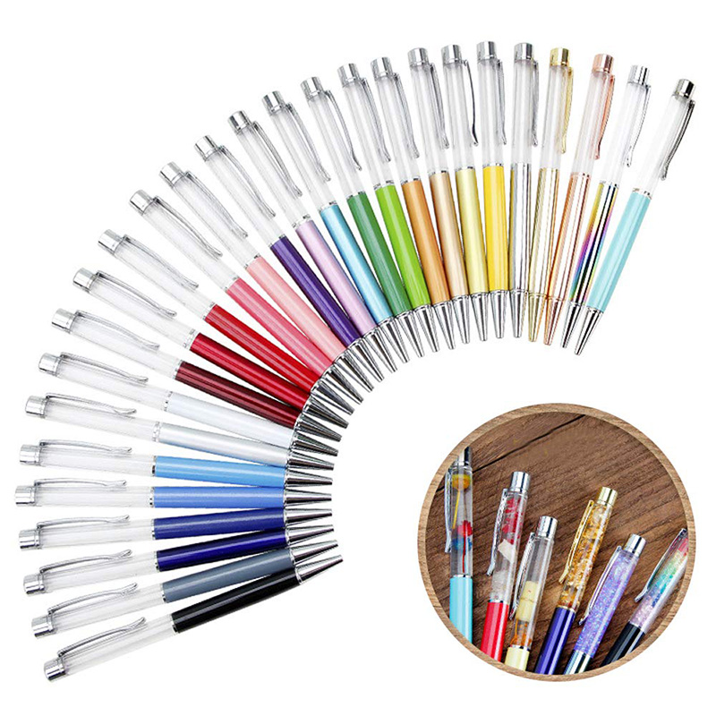 27 PACK Colorful Empty Tube Floating DIY Pens Ballpoint Pens, Building Your Favorite Liquid Sand Pens Gift
