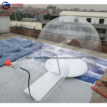 Free shipping inflatable dome bubble tent blow up inflatable camping tent with entrance factory inflatable bubble camping tent with double rooms waterproof photobooth bubble sleeping tents inflatable clear dome tent